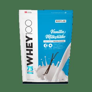 BodyLab Whey 100 Proteinpulver Vanilje Milkshake (1kg)