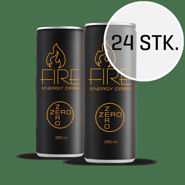 Fire Energy Drink Zero 250 ml (24 stk.)