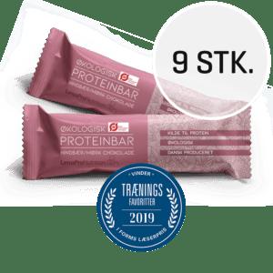 LinusPro Økologisk Proteinbar 9 stk. (Hindbær, 55 g)