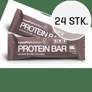 LinusPro Proteinbar 24 stk. (Karamel, 60 g)