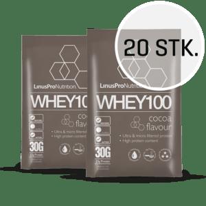 LinusPro WHEY100 30 g (Chokolade, 20 stk.)