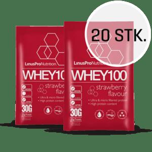 LinusPro WHEY100 30 g (Jordbær, 20 stk.)