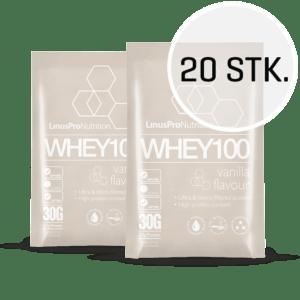 LinusPro WHEY100 30 g (Vanilje, 20 stk.)