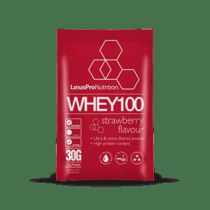 LinusPro WHEY100 brev (Jordbær, 30 g)
