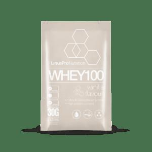 LinusPro WHEY100 brev (Vanilje, 30 g)