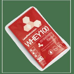 LinusPro Whey 100 Proteinpulver Jordbær Brev (30g)