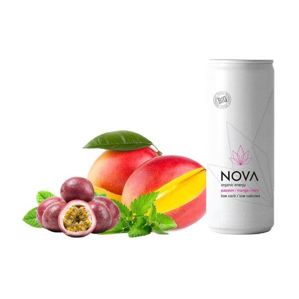 NOVA Organic Energy 24 stk. (Passion/Mango/Mint, 25 cl.)