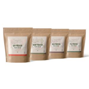 Vegansk proteinpulver pakke