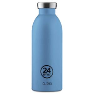 24 Bottles - Clima Bottle 0,5 L - Stone Finish - Powder Blue