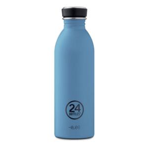 24 Bottles - Urban Bottle 0,5 L - Stone Finish - Powder Blue