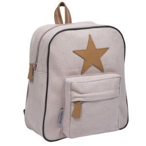 Smallstuff - Little Backpack w. Leather Star - Powder Gold