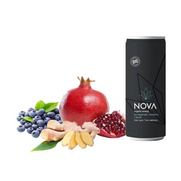 NOVA Organic Energy (Pomegranate/Blueberry/Ginger, 25 cl.)