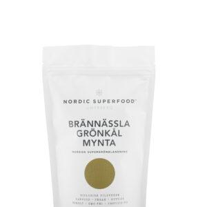 Nordic Superfood - Super Pulver Grøn - Brændenælde, Grønkål, Mynte 175 g