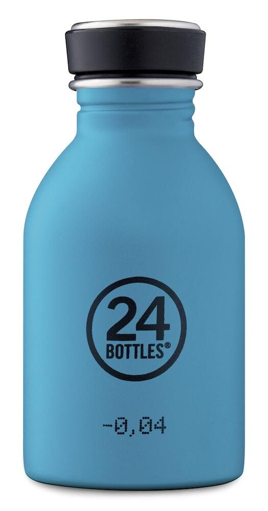 24 Bottles - Urban Bottle 0,25 L - Stone Finish - Powder Blue