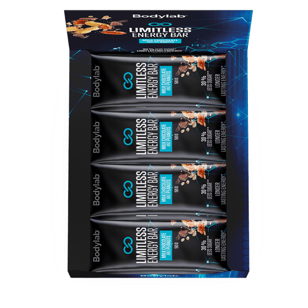 Bodylab Limitless Energy Bar Milk Chocolate and Peanuts 12x50g