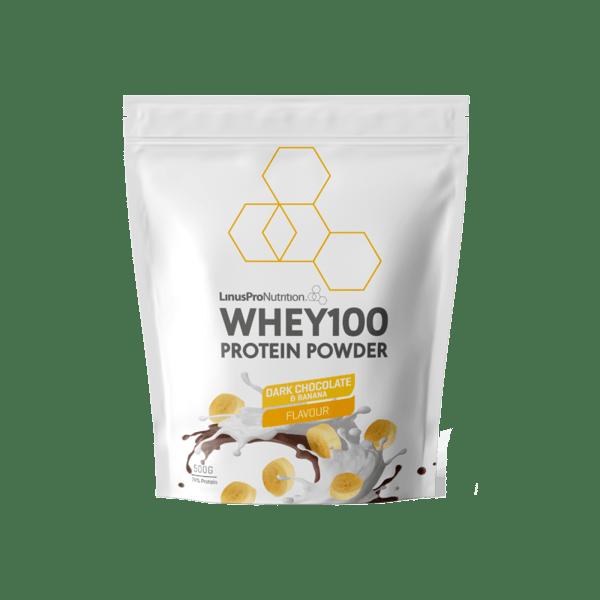LinusPro Whey100 Proteinpulver Dark Chocolate and Banana 500g
