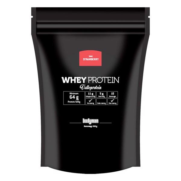 Bodyman Whey Proteinpulver Strawberry 500g
