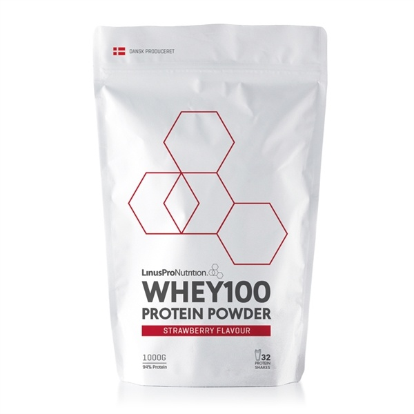 Linuspro PURE WHEY100 Proteinpulver Strawberry 1000g