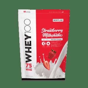 BodyLab Whey 100 Proteinpulver Jordbær Milkshake (1kg)