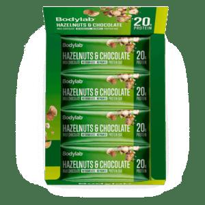 Bodylab Protein Bar Hazelnuts & Chocolate 12x55g