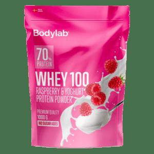 BodylabWhey 100 Proteinpulver Raspberry and Yoghurt 1kg