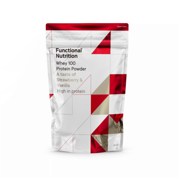 Functional Nutrition Whey 100 - 850g-Strawberry Vanilla (NYHED)