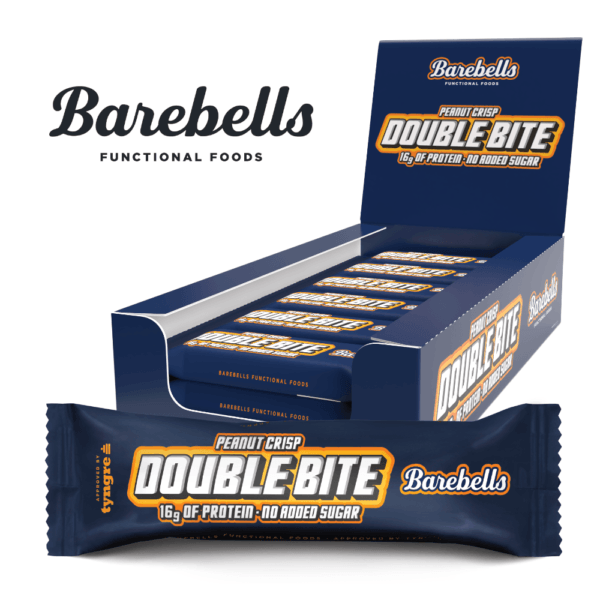 Barebells Protein Bar Double Bite Peanut Crisp (12x 55g)