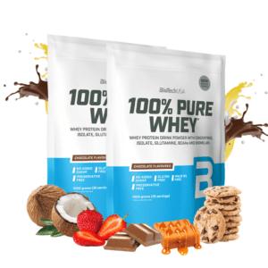 BioTechUSA 100% Pure Whey - Proteinpulver (6x1 kg)