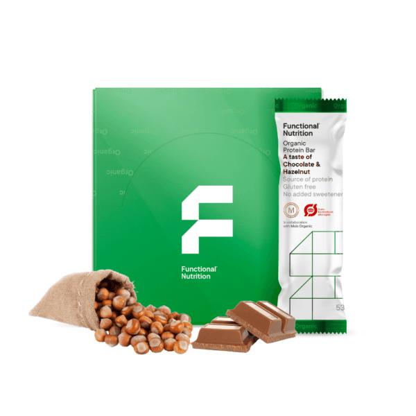 Functional Nutrition Organic Protein Bar Chocolate & Hazelnut (9x 53g)