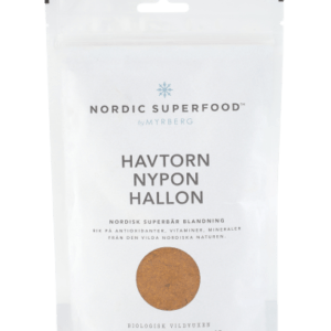 Nordic Superfood - Pulver Gul - Havtorn, Hyben, Hindbær 80 g