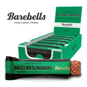 Barebells Protein Bar Hazelnut & Nougat (12x 55g) - OBS! BEDST FØR 12/10-2021