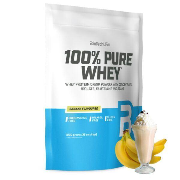 BioTechUSA 100% Pure Whey - Proteinpulver (1 kg) Banana