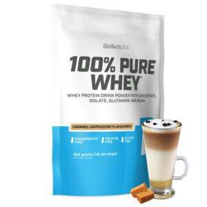 BioTechUSA 100% Pure Whey - Proteinpulver (1 kg) Caramel Cappuccino