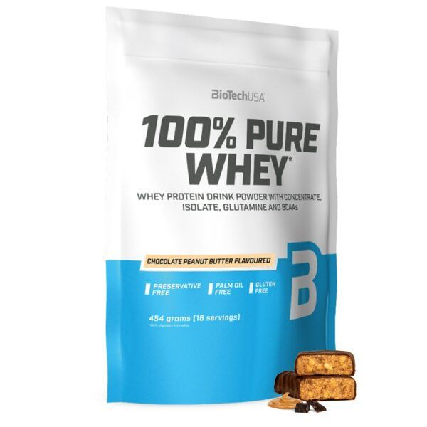 BioTechUSA 100% Pure Whey - Proteinpulver (1 kg) Chocolate & Peanut Butter