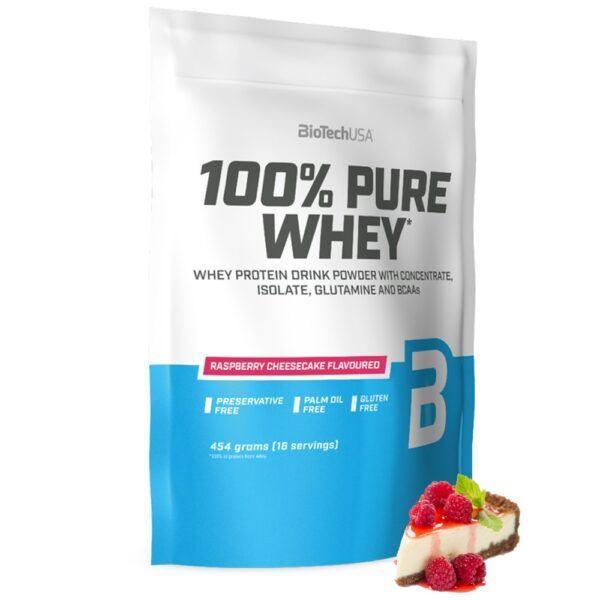 BioTechUSA 100% Pure Whey - Proteinpulver (1 kg)-Raspberry Cheesecake