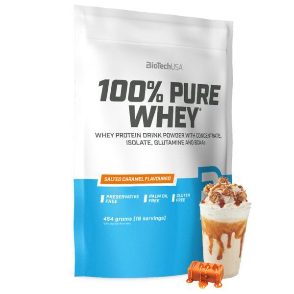 BioTechUSA 100% Pure Whey - Proteinpulver (1 kg)-Salted Caramel
