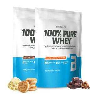 BioTechUSA 100% Pure Whey - Proteinpulver (2x1 kg)
