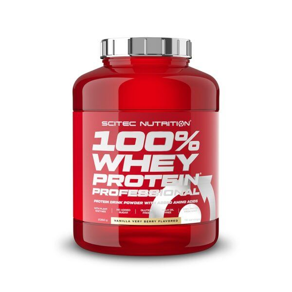 Scitec Nutrition 100% Whey Protein Professional (2350g)-Vanilla Very Berry