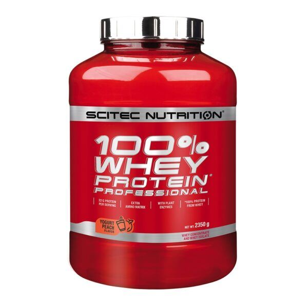Scitec Nutrition 100% Whey Protein Professional (2350g)-Yoghurt Peach