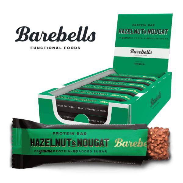 Barebells Protein Bar Hazelnut & Nougat (12x 55g) - OBS! BEDST FØR 2/11/2021