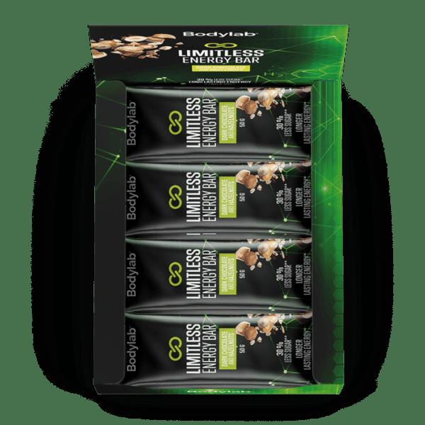BodyLab Limitless Energy Bar - Mørk Chocolade & Hasselnødder (12 x 50g)