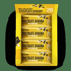BodyLab Protein Bar Chocolade Banan (12 x 55 g)
