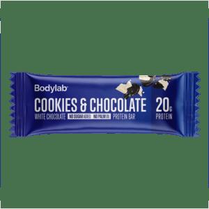 BodyLab Protein Bar Cookies & Hvid Chokolade (1 x 55 g)