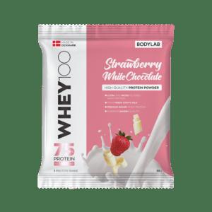 BodyLab Sample Whey 100 Jordbær White Chocolate (1 x 30 gram)