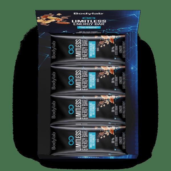 BodyLab Limitless Energy Bar - Mælke Chocolade & Peanuts (12 x 50g)