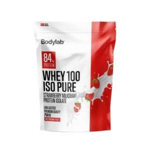 Bodylab Whey 100 ISO Pure (750 g)-Strawberry Milkshake
